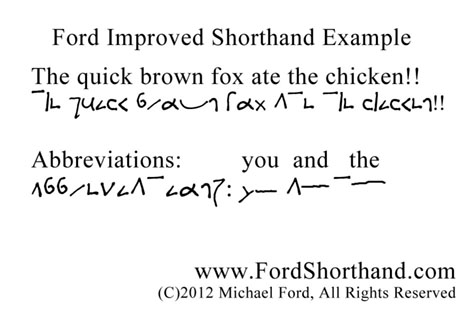 Ford Improved Shorthand In 15 Minutes